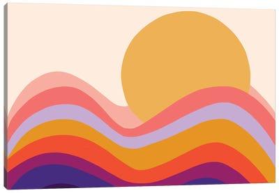 Retro Waves II Canvas Art Print