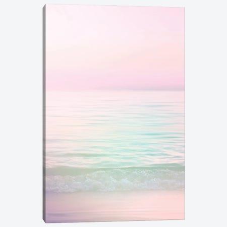 Dreamy Pastel Seascape I Pink Canvas Print #DVR11} by Dominique Vari Canvas Art Print