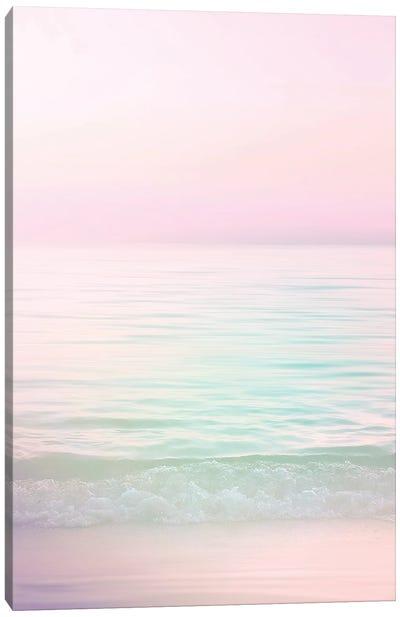 Dreamy Pastel Seascape I Pink Canvas Art Print