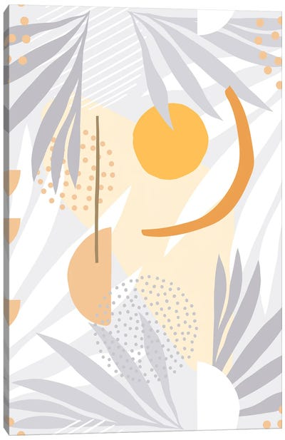 The Shapes Of Nature IV Grey Canvas Art Print