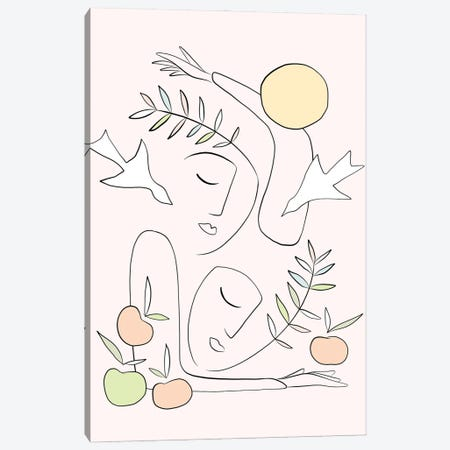 This Summer Together Canvas Print #DVR128} by Dominique Vari Canvas Artwork
