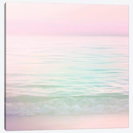 Dreamy Pastel Seascape I Pink Square Canvas Print #DVR12} by Dominique Vari Canvas Print