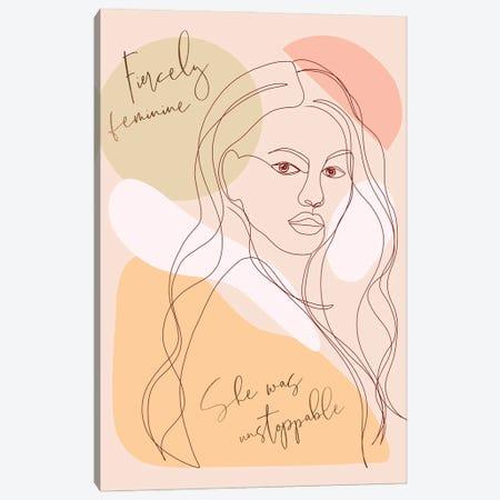 Woman Portrait Card Fierce Canvas Print #DVR133} by Dominique Vari Canvas Print