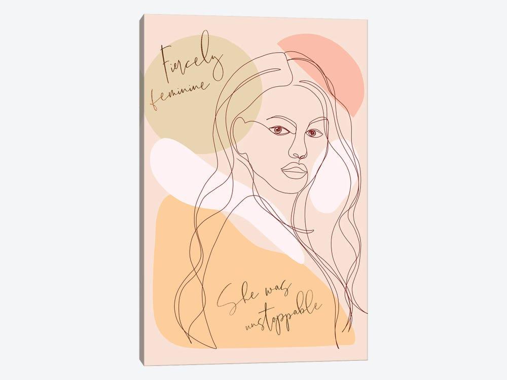 Woman Portrait Card Fierce by Dominique Vari 1-piece Art Print