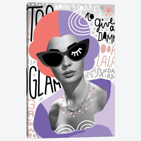 Fashiongirl II Too Glam Canvas Print #DVR13} by Dominique Vari Canvas Print