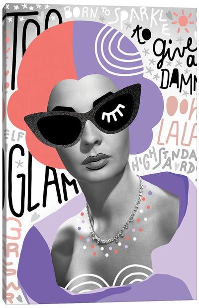 Fashiongirl II Too Glam Canvas Art Print