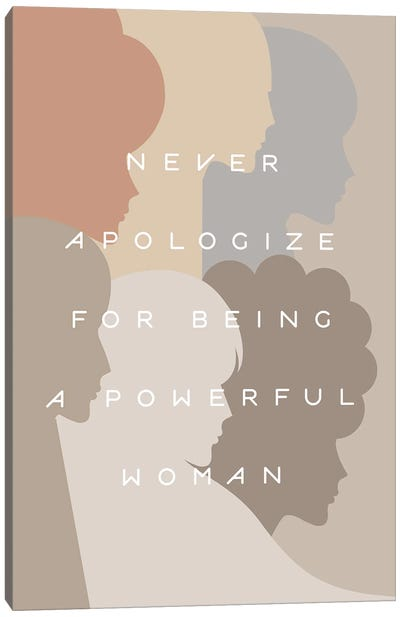 Girl Power Neverapologize Pastel Canvas Art Print