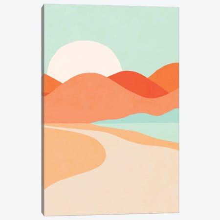 Oasis Sunset Canvas Print #DVR145} by Dominique Vari Art Print
