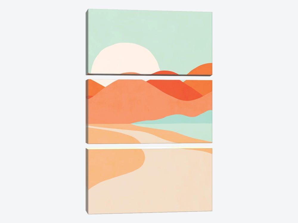 Oasis Sunset by Dominique Vari 3-piece Canvas Art