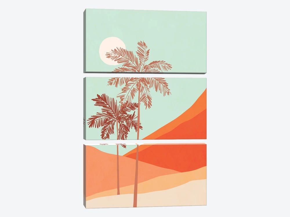 Palm Duo by Dominique Vari 3-piece Canvas Art Print