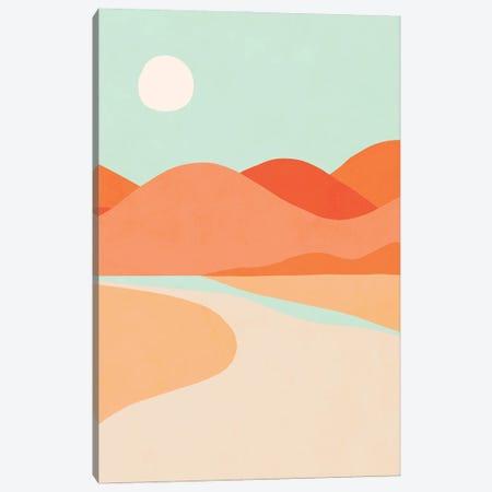 Sunset Cactus Canvas Print #DVR147} by Dominique Vari Art Print