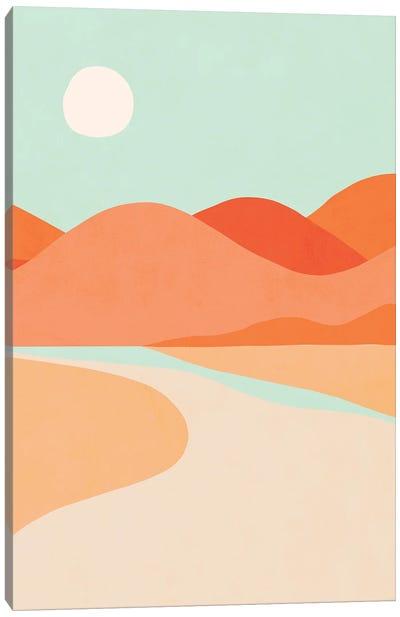 Sunset Cactus Canvas Art Print