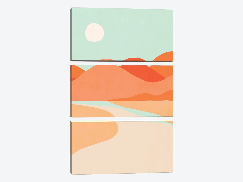 Sunset Cactus by Dominique Vari 3-piece Canvas Wall Art