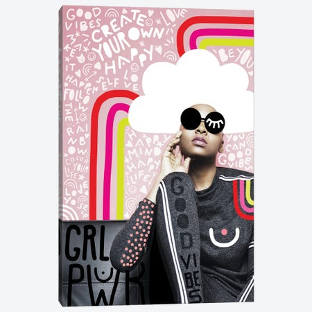 Fashiongirl Create Your Own Happy Canvas Print #DVR14} by Dominique Vari Canvas Art