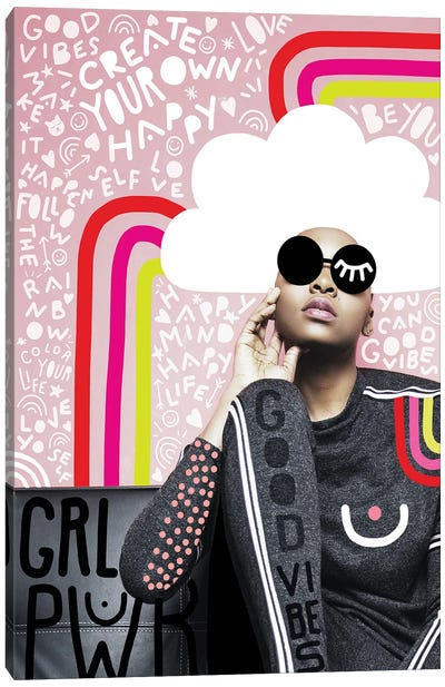 Fashiongirl Create Your Own Happy Canvas Art Print