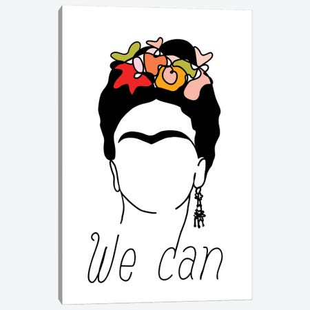 Frida We Can Canvas Print #DVR18} by Dominique Vari Art Print