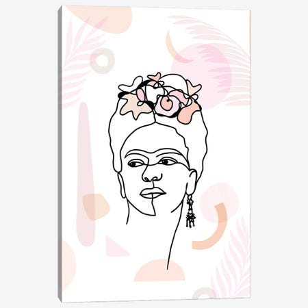 Frida Kahlo II Canvas Print #DVR19} by Dominique Vari Art Print