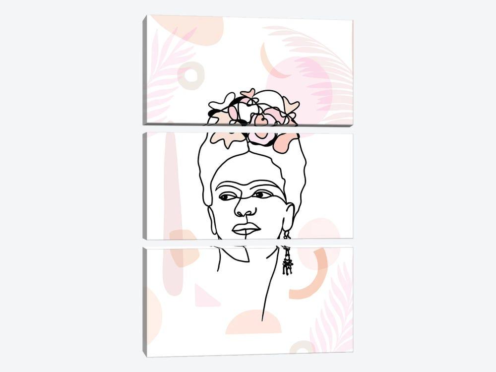 Frida Kahlo II by Dominique Vari 3-piece Canvas Art Print