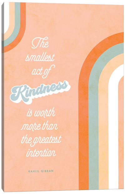 Act Of Kindness Canvas Art Print