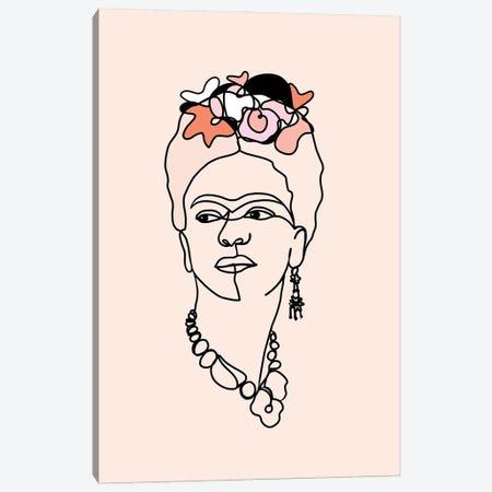 Frida Kahlo IV Canvas Print #DVR21} by Dominique Vari Canvas Wall Art