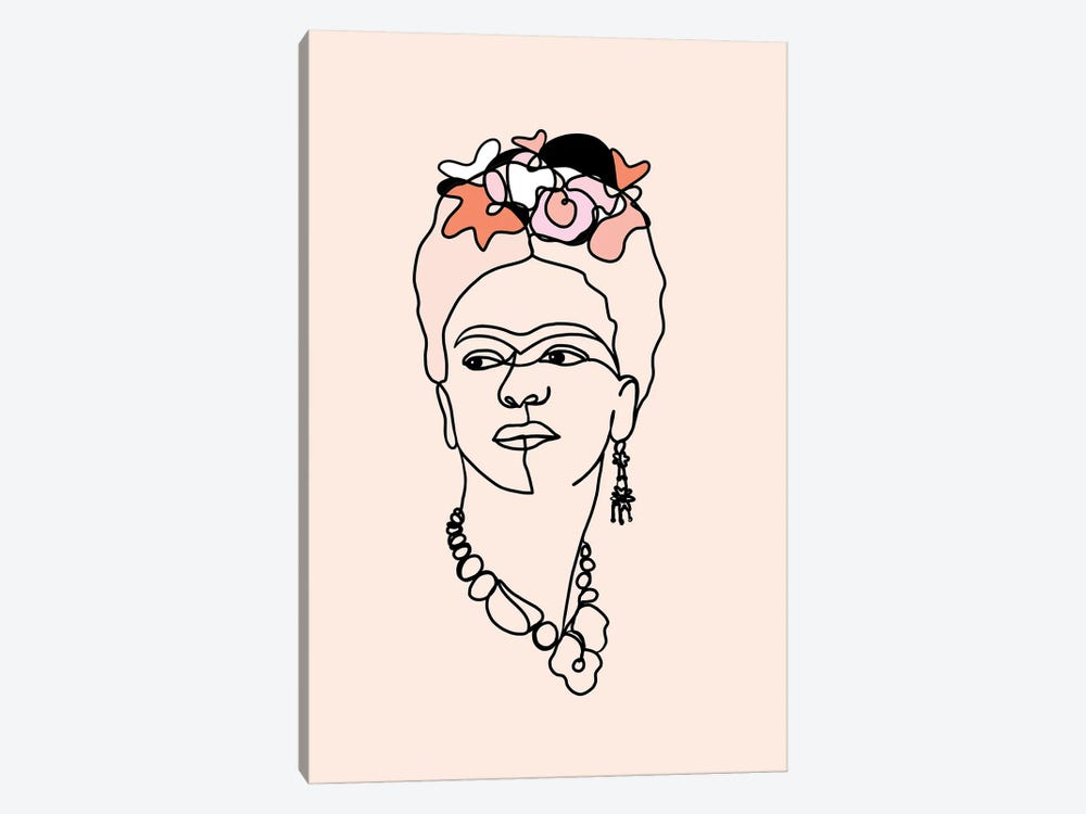 Frida Kahlo IV by Dominique Vari 1-piece Canvas Art