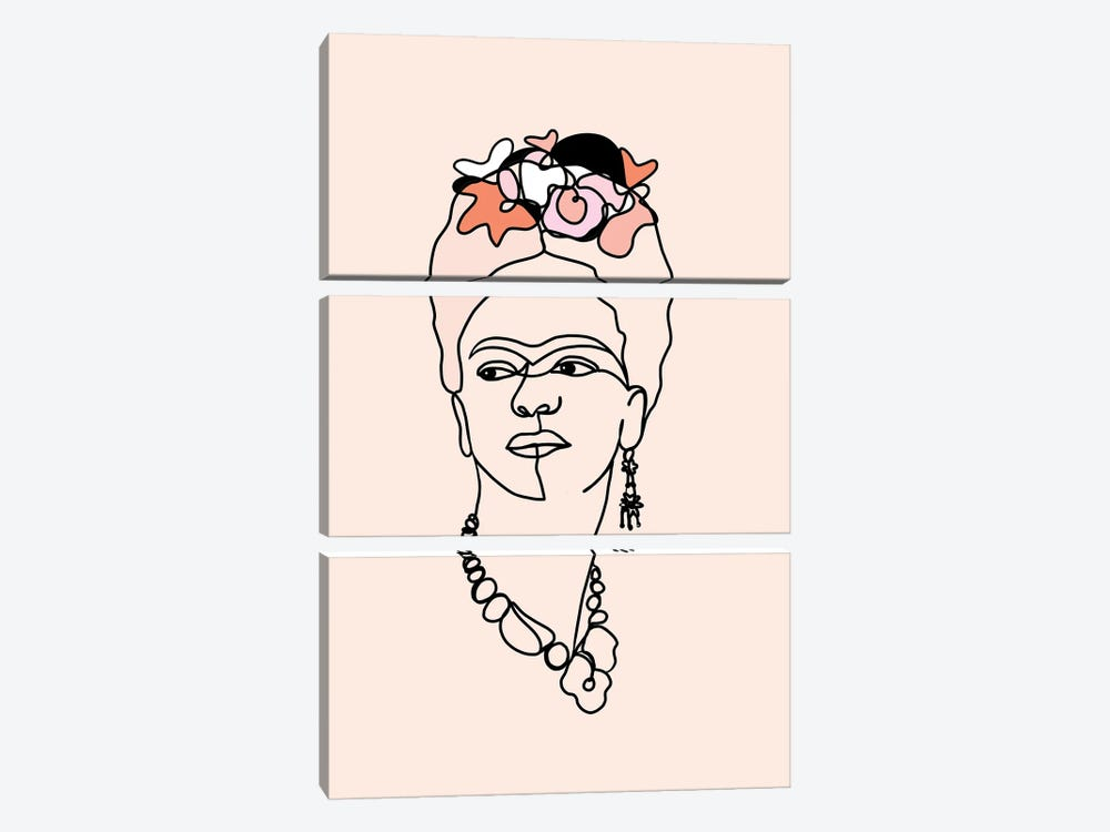 Frida Kahlo IV by Dominique Vari 3-piece Canvas Wall Art