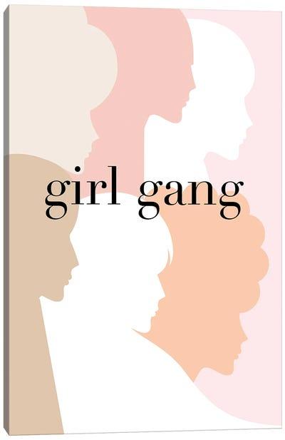 Girl Gang Pastel Pink Canvas Art Print
