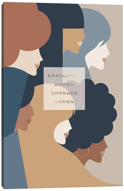 Girl Power Empowered Woman Earthy Stationery Canvas Art Print