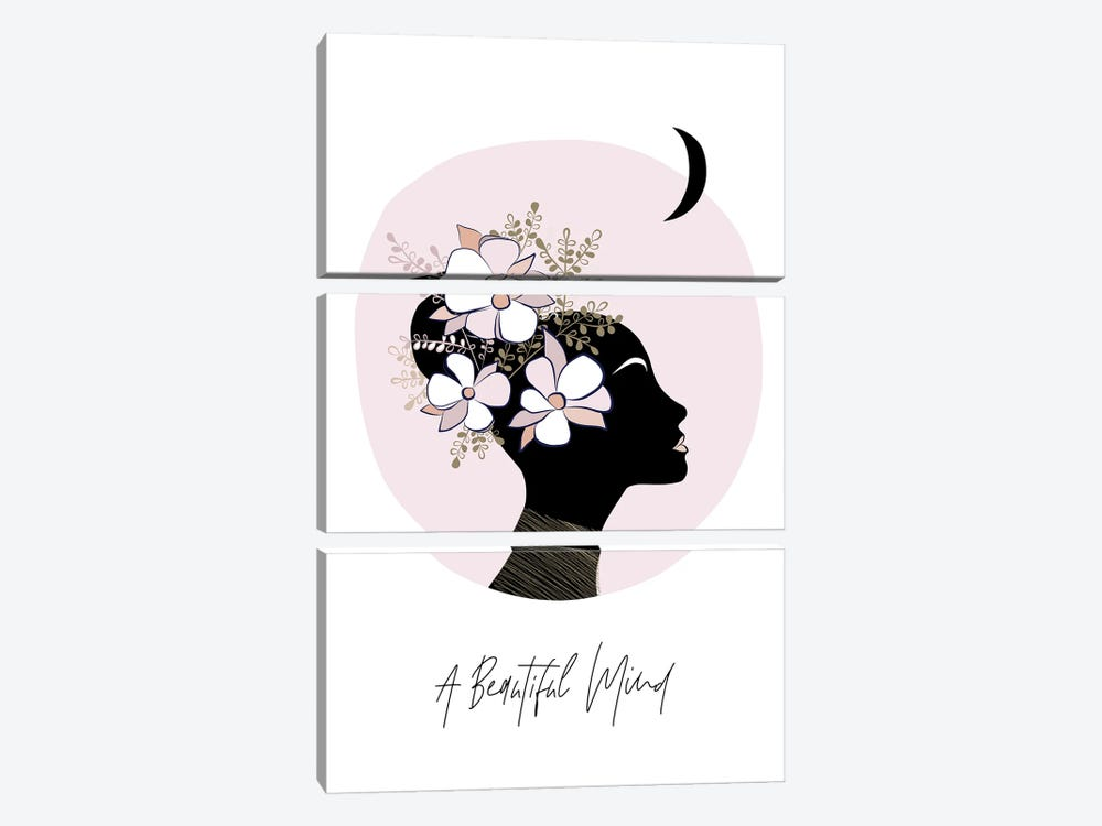 Girl II A Beautiful Mind by Dominique Vari 3-piece Canvas Art