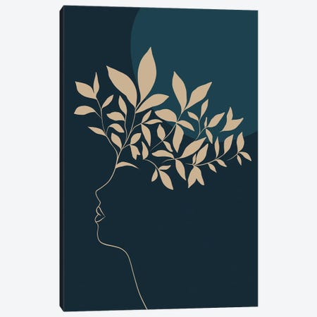 Botanical II Portrait Sienna Canvas Print #DVR2} by Dominique Vari Art Print