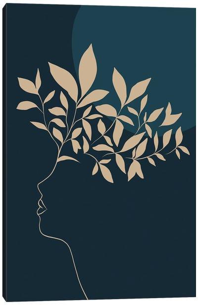 Botanical II Portrait Sienna Canvas Art Print