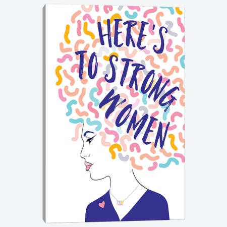 Girl Power I Strong Women Portrait Canvas Print #DVR34} by Dominique Vari Canvas Wall Art
