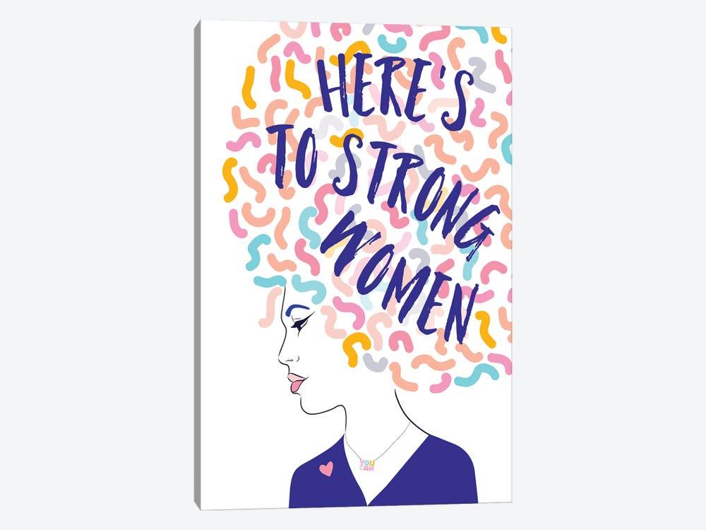 Girl Power I Strong Women Portrait by Dominique Vari 1-piece Canvas Wall Art