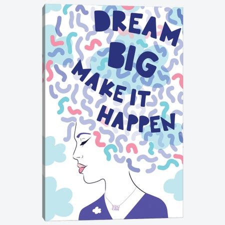 Girl Power III Dream Big Canvas Print #DVR36} by Dominique Vari Canvas Art