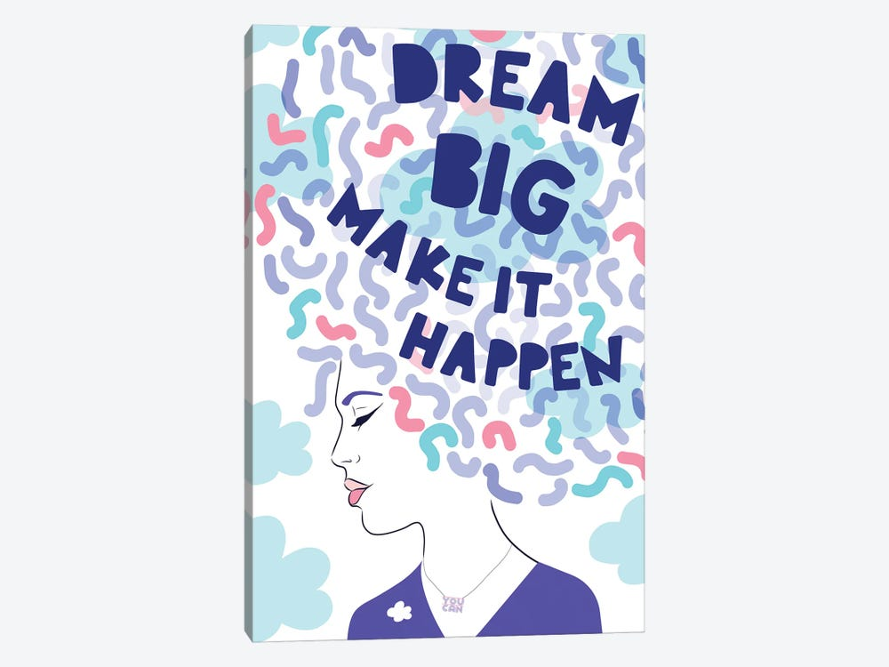 Girl Power III Dream Big by Dominique Vari 1-piece Canvas Art