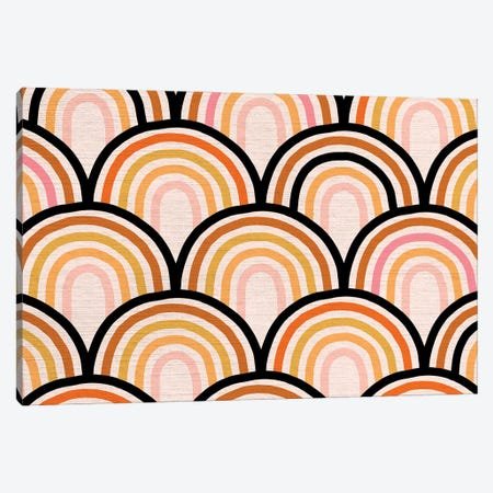 Growing Rainbow Blush Mat I Canvas Print #DVR37} by Dominique Vari Canvas Artwork