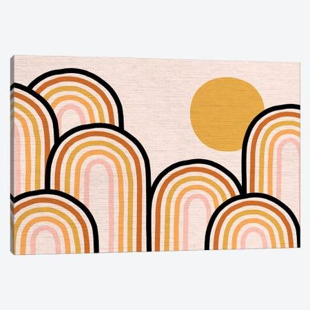 Growing Rainbow Blush Mat II Canvas Print #DVR38} by Dominique Vari Art Print