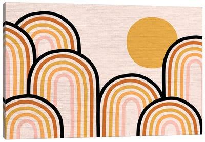 Growing Rainbow Blush Mat II Canvas Art Print