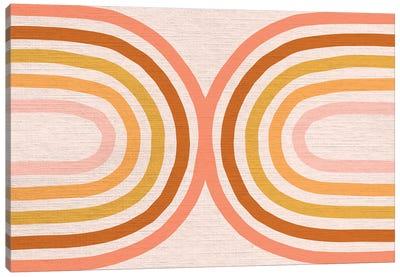 Growing Rainbow Blush Mat IV Canvas Art Print