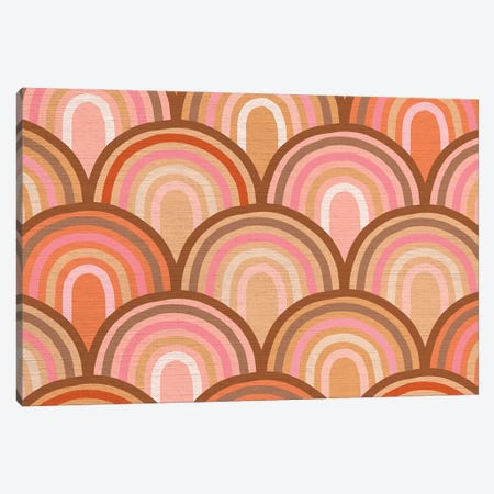 Growing Rainbows II Terracotta Mat I Canvas Print #DVR41} by Dominique Vari Canvas Artwork