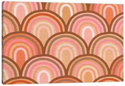Growing Rainbows II Terracotta Mat I Canvas Art Print