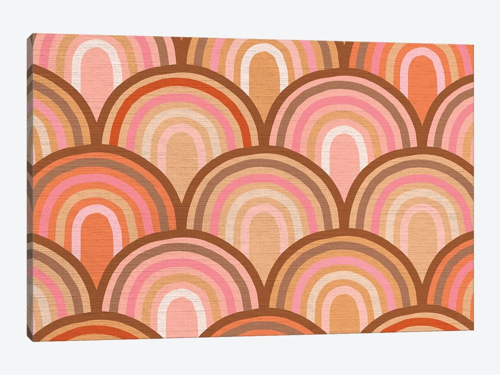 Growing Rainbows II Terracotta Mat I by Dominique Vari 1-piece Canvas Art