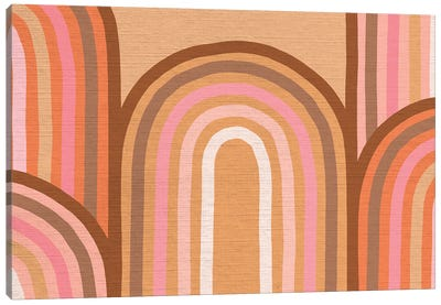 Growing Rainbows II Terracotta Mat II Canvas Art Print