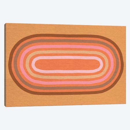 Growing Rainbows II Terracotta Mat III Canvas Print #DVR43} by Dominique Vari Canvas Artwork