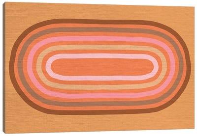 Growing Rainbows II Terracotta Mat III Canvas Art Print