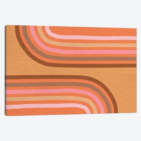 Growing Rainbows II Terracotta Mat IV Canvas Print #DVR44} by Dominique Vari Canvas Art Print