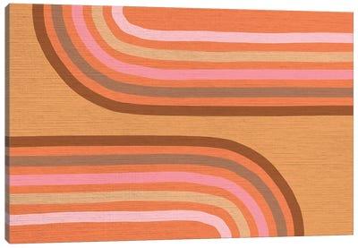 Growing Rainbows II Terracotta Mat IV Canvas Art Print