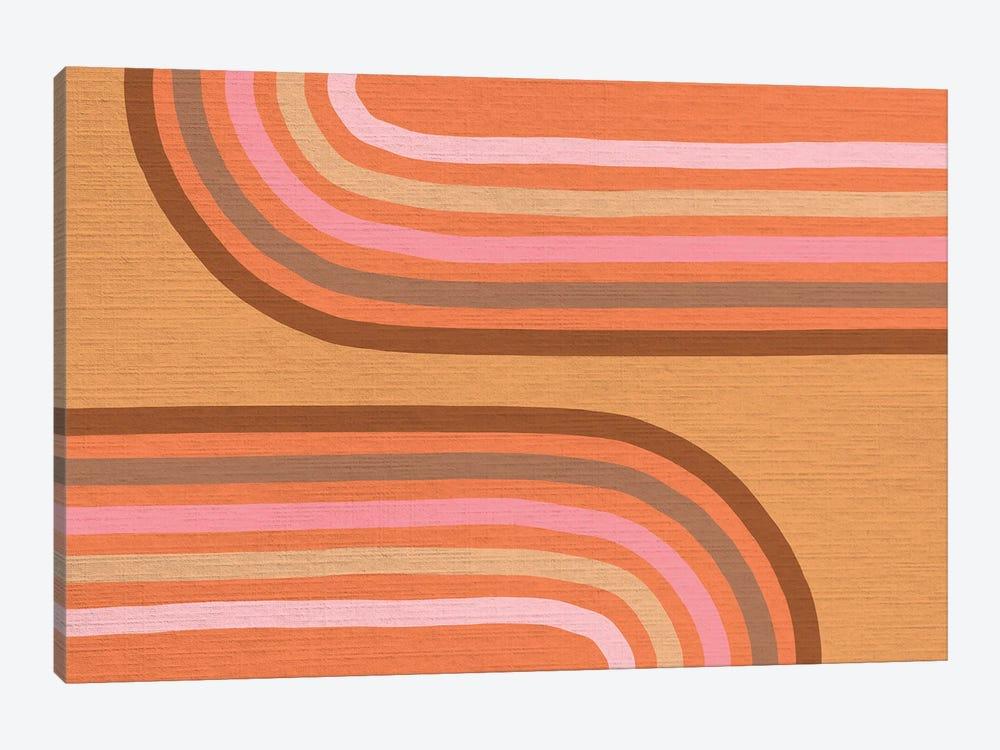 Growing Rainbows II Terracotta Mat IV by Dominique Vari 1-piece Canvas Print