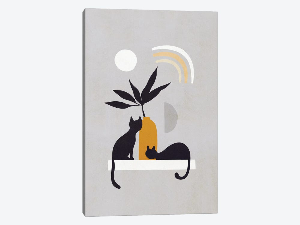 Cats And Nature IB by Dominique Vari 1-piece Canvas Artwork