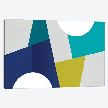 MCM Geometry Blue I Canvas Print #DVR54} by Dominique Vari Canvas Wall Art
